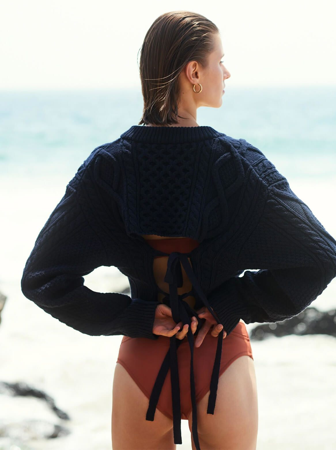 Model with STATIC SWIMWEAR Bikini