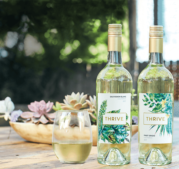 Thrive Wines bottles